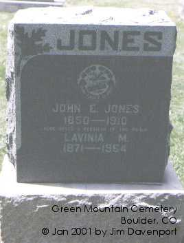 JONES, JOHN E. - Boulder County, Colorado | JOHN E. JONES - Colorado Gravestone Photos