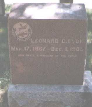 LYON, LEONARD - Boulder County, Colorado | LEONARD LYON - Colorado Gravestone Photos
