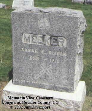 MEEKER, SARAH E. - Boulder County, Colorado | SARAH E. MEEKER - Colorado Gravestone Photos