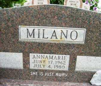MILANO, ANNAMARIE - Boulder County, Colorado | ANNAMARIE MILANO - Colorado Gravestone Photos