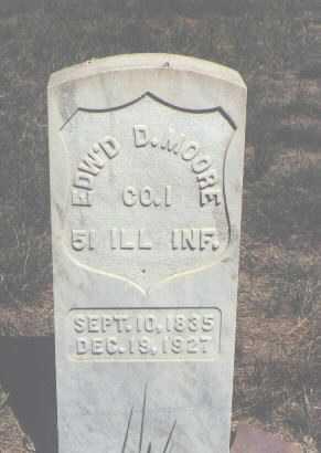 MOORE, EDW'D D. - Boulder County, Colorado | EDW'D D. MOORE - Colorado Gravestone Photos