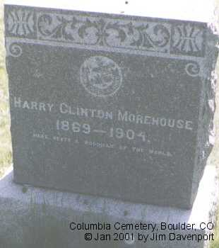 MOREHOUSE, HARRY CLINTON - Boulder County, Colorado | HARRY CLINTON MOREHOUSE - Colorado Gravestone Photos