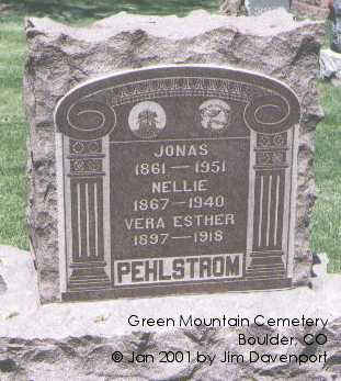 PEHLSTROM, JONAS - Boulder County, Colorado | JONAS PEHLSTROM - Colorado Gravestone Photos