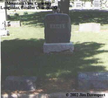 RAND, PLOT - Boulder County, Colorado | PLOT RAND - Colorado Gravestone Photos