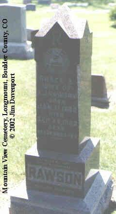 RAWSON, GRACE A. - Boulder County, Colorado | GRACE A. RAWSON - Colorado Gravestone Photos