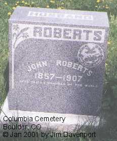 ROBERTS, JOHN - Boulder County, Colorado   JOHN ROBERTS - Colorado Gravestone Photos