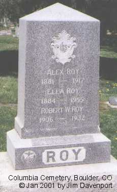 ROY, ELLA - Boulder County, Colorado | ELLA ROY - Colorado Gravestone Photos