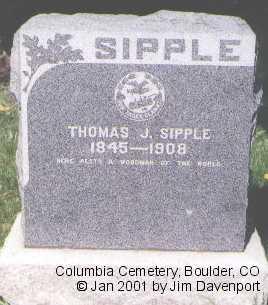 SIPPLE, THOMAS J. - Boulder County, Colorado | THOMAS J. SIPPLE - Colorado Gravestone Photos