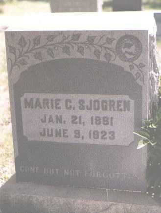 SJOGREN, MARIE C. - Boulder County, Colorado | MARIE C. SJOGREN - Colorado Gravestone Photos