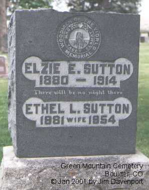 SUTTON, ETHEL L. - Boulder County, Colorado | ETHEL L. SUTTON - Colorado Gravestone Photos