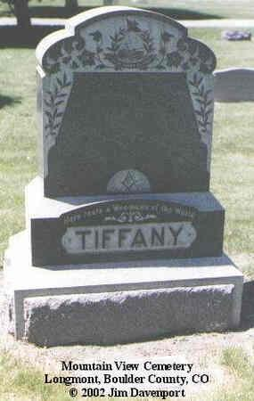 TIFFANY, WILLARD H. - Boulder County, Colorado | WILLARD H. TIFFANY - Colorado Gravestone Photos