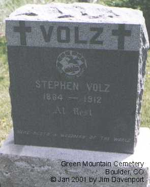 VOLZ, STEPHEN - Boulder County, Colorado | STEPHEN VOLZ - Colorado Gravestone Photos