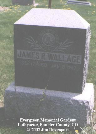 WALLACE, JAMES R. - Boulder County, Colorado | JAMES R. WALLACE - Colorado Gravestone Photos