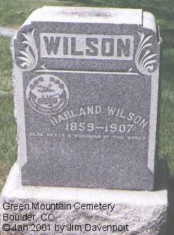 WILSON, HARLAND - Boulder County, Colorado   HARLAND WILSON - Colorado Gravestone Photos