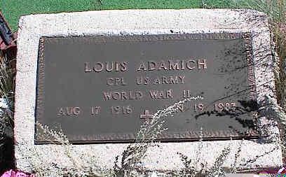 ADAMICH, LOUIS - Chaffee County, Colorado | LOUIS ADAMICH - Colorado Gravestone Photos