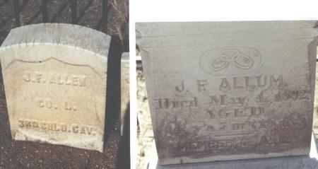 ALLEM, J. F. - Chaffee County, Colorado | J. F. ALLEM - Colorado Gravestone Photos