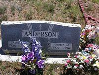 ANDERSON, NORMA M. - Chaffee County, Colorado | NORMA M. ANDERSON - Colorado Gravestone Photos