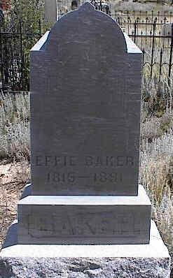 BAKER, EFFIE - Chaffee County, Colorado | EFFIE BAKER - Colorado Gravestone Photos