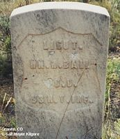 BALL, WM. H. - Chaffee County, Colorado | WM. H. BALL - Colorado Gravestone Photos