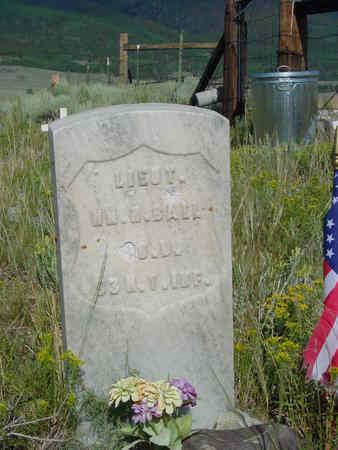 BALL, WILLIAM H (LIEUT) - Chaffee County, Colorado | WILLIAM H (LIEUT) BALL - Colorado Gravestone Photos