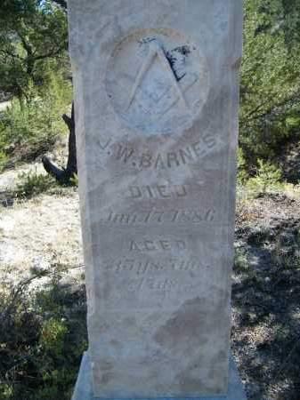 BARNES, J. W. - Chaffee County, Colorado | J. W. BARNES - Colorado Gravestone Photos