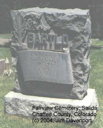 BARTLO, A.N. - Chaffee County, Colorado | A.N. BARTLO - Colorado Gravestone Photos