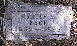 BECK, MYRTLE M. - Chaffee County, Colorado   MYRTLE M. BECK - Colorado Gravestone Photos