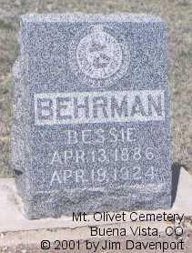 BEHRMANN, BESSIE - Chaffee County, Colorado | BESSIE BEHRMANN - Colorado Gravestone Photos
