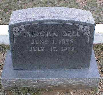 BELL, ISIDORA - Chaffee County, Colorado | ISIDORA BELL - Colorado Gravestone Photos