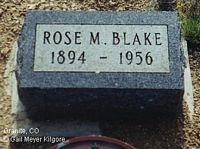 BLAKE, ROSE M. - Chaffee County, Colorado | ROSE M. BLAKE - Colorado Gravestone Photos