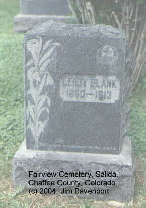 BLANK, LEROY - Chaffee County, Colorado | LEROY BLANK - Colorado Gravestone Photos
