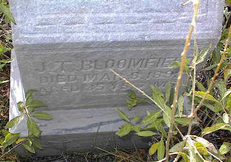 BLOOMFIELD, J. T. - Chaffee County, Colorado | J. T. BLOOMFIELD - Colorado Gravestone Photos