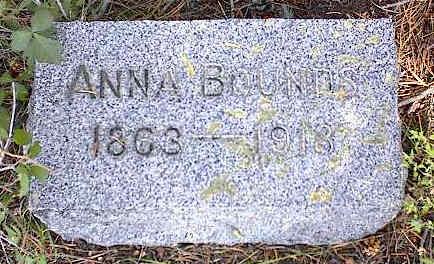 BOUNDS, ANNA - Chaffee County, Colorado | ANNA BOUNDS - Colorado Gravestone Photos
