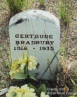 BRADBURY, GERTRUDE - Chaffee County, Colorado | GERTRUDE BRADBURY - Colorado Gravestone Photos