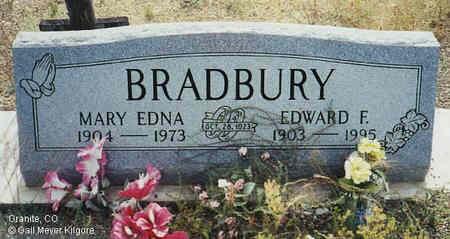 ROUT BRADBURY, MARY EDNA - Chaffee County, Colorado | MARY EDNA ROUT BRADBURY - Colorado Gravestone Photos