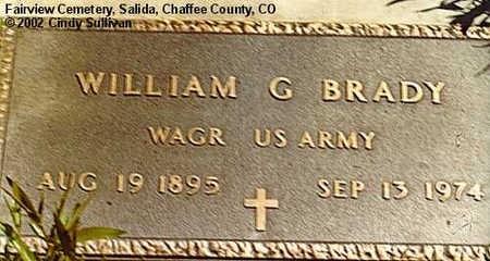 BRADY, WILLIAM G. - Chaffee County, Colorado | WILLIAM G. BRADY - Colorado Gravestone Photos