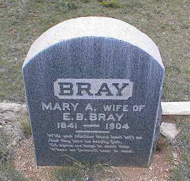BRAY, MARY A. - Chaffee County, Colorado | MARY A. BRAY - Colorado Gravestone Photos