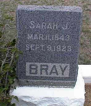 BRAY, SARAH J. - Chaffee County, Colorado   SARAH J. BRAY - Colorado Gravestone Photos
