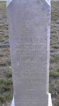 BROOKS, SARAH A. - Chaffee County, Colorado | SARAH A. BROOKS - Colorado Gravestone Photos