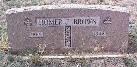 BROWN, HOMER J. - Chaffee County, Colorado | HOMER J. BROWN - Colorado Gravestone Photos