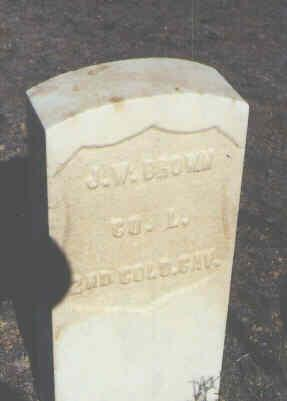 BROWN, J. W. - Chaffee County, Colorado | J. W. BROWN - Colorado Gravestone Photos