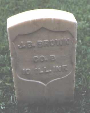 BROWN, J. B. - Chaffee County, Colorado   J. B. BROWN - Colorado Gravestone Photos