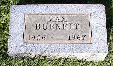BURNETT, MAX - Chaffee County, Colorado | MAX BURNETT - Colorado Gravestone Photos