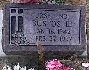 BUSTOS, JOSE LINO III - Chaffee County, Colorado | JOSE LINO III BUSTOS - Colorado Gravestone Photos