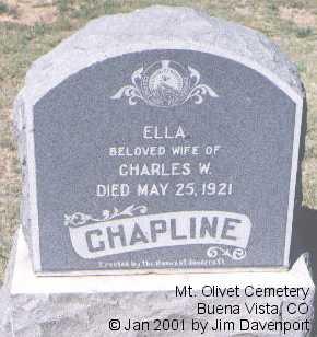 CHAPLINE, ELLA - Chaffee County, Colorado | ELLA CHAPLINE - Colorado Gravestone Photos