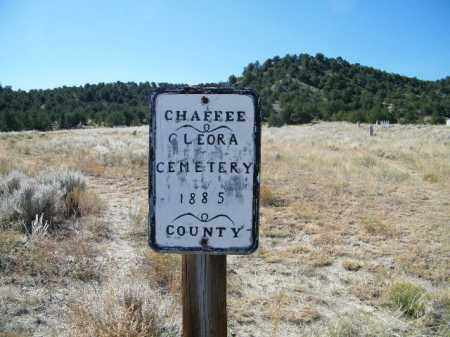 CLEORA, SIGN - Chaffee County, Colorado | SIGN CLEORA - Colorado Gravestone Photos