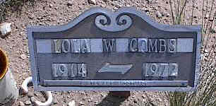 BASHAM COMBS, LOLA W. - Chaffee County, Colorado | LOLA W. BASHAM COMBS - Colorado Gravestone Photos