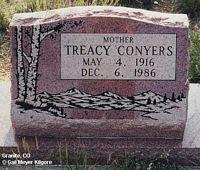CONYERS, TREACY - Chaffee County, Colorado | TREACY CONYERS - Colorado Gravestone Photos