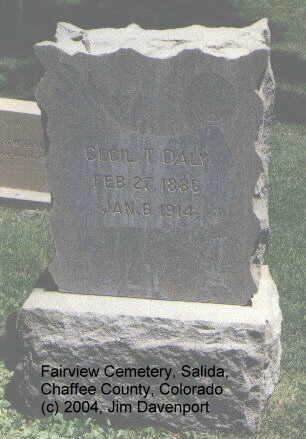 DALY, CECIL T. - Chaffee County, Colorado | CECIL T. DALY - Colorado Gravestone Photos