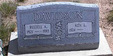 BRUCE DAVIDSON, ALTA L. - Chaffee County, Colorado | ALTA L. BRUCE DAVIDSON - Colorado Gravestone Photos